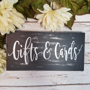 Gifts & Cards Distressed Wedding Decor Sign